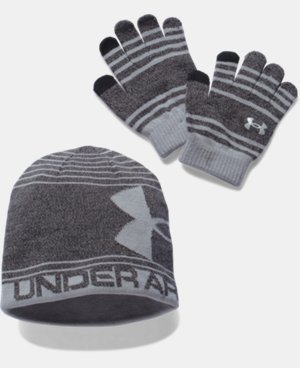 Boys' UA Beanie & Glove Combo Pack LIMITED TIME: FREE U.S. SHIPPING  $22.99