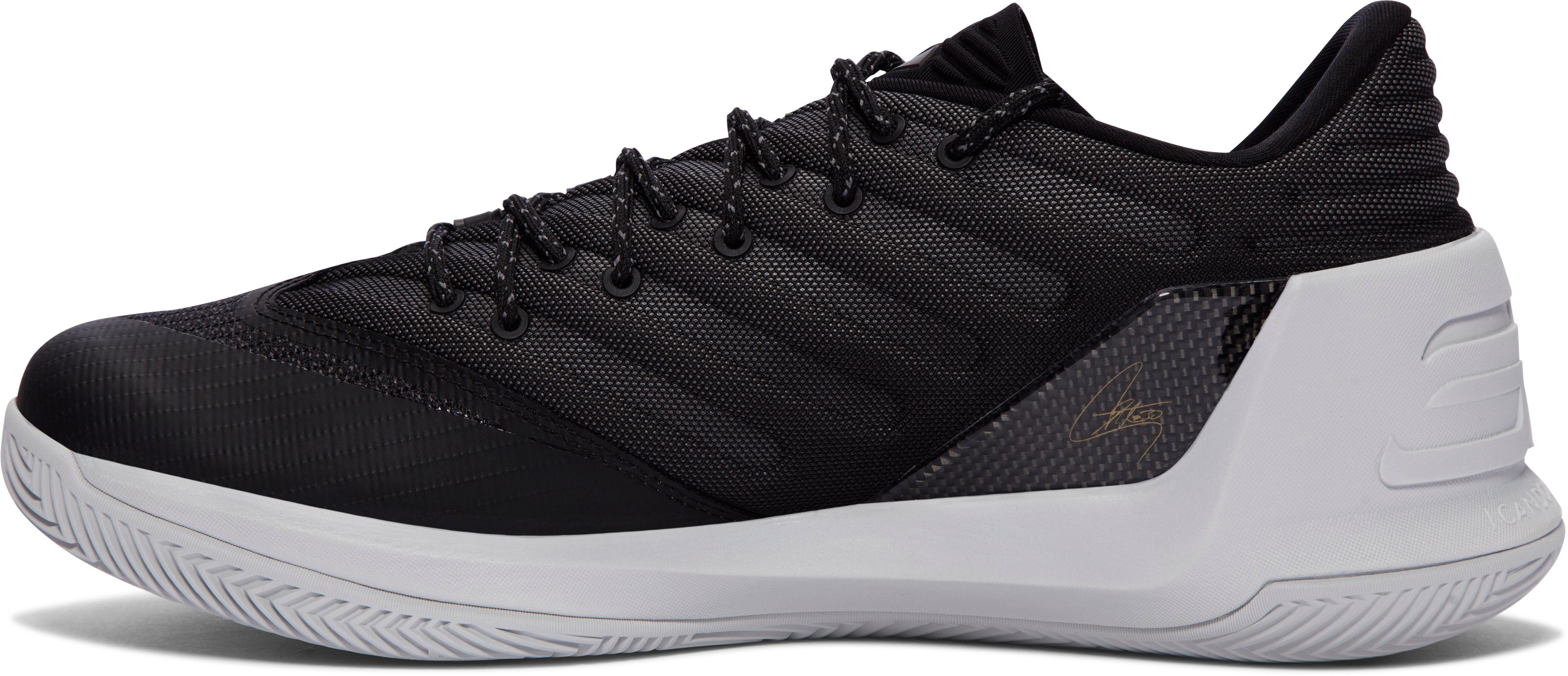 Men's UA Curry 3 Low Basketball Shoes, Black ,