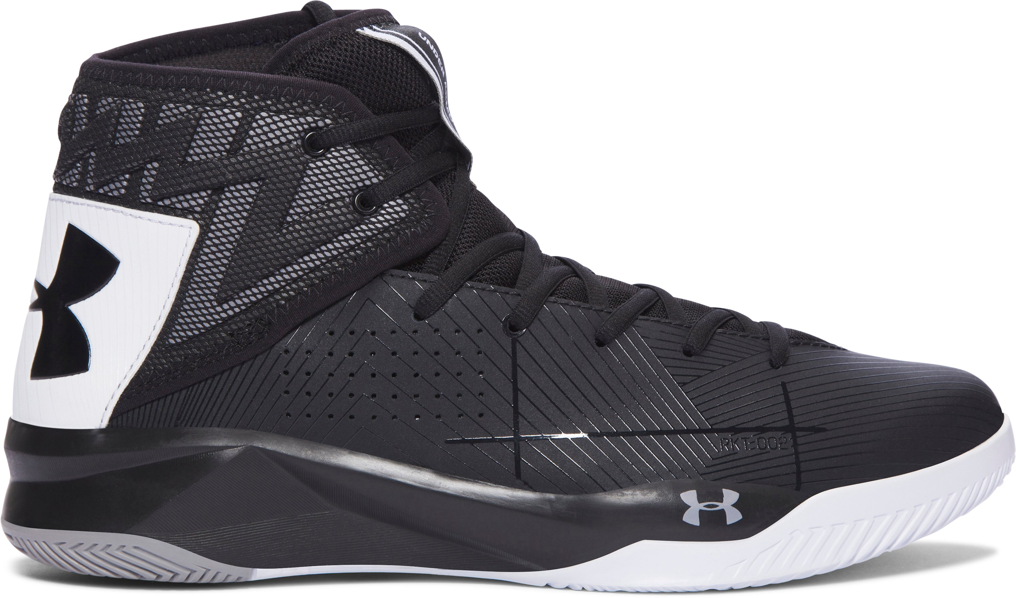 Men's UA Rocket 2 Basketball Shoes, Black , undefined