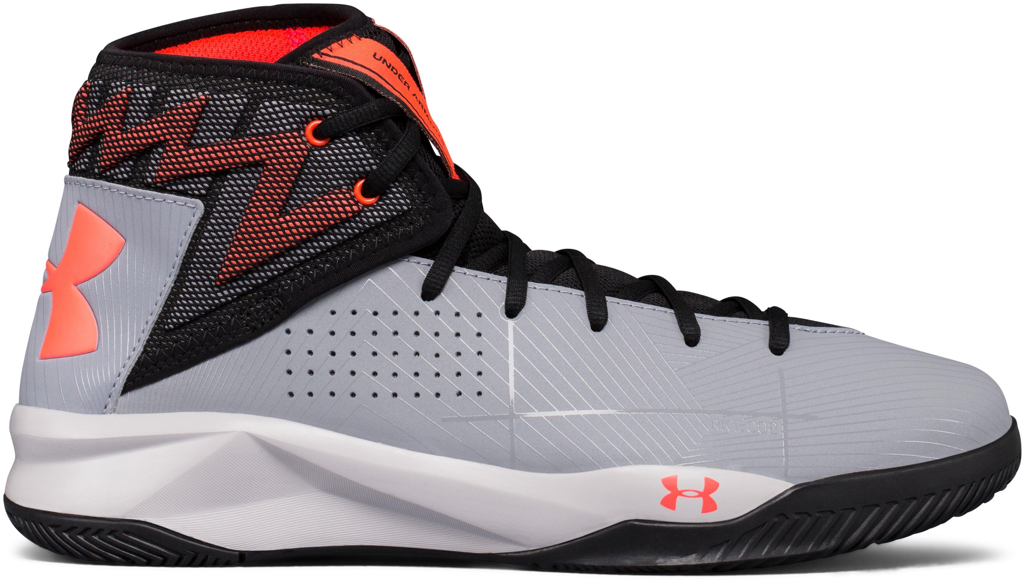 Men's UA Rocket 2 Basketball Shoes, 360 degree view
