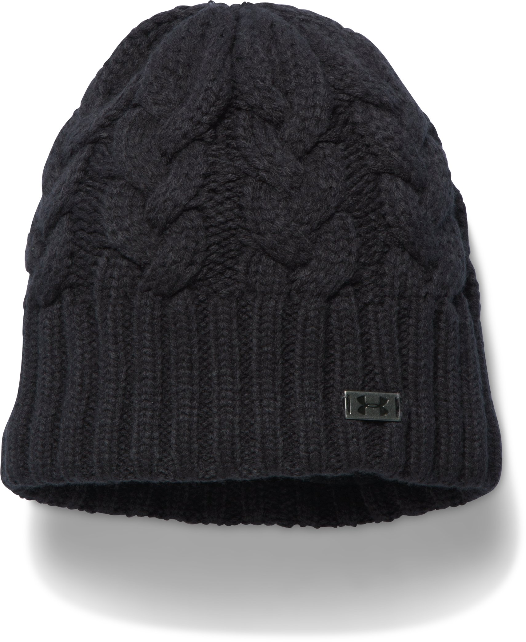 Women's UA Around Town Beanie, Black , zoomed image