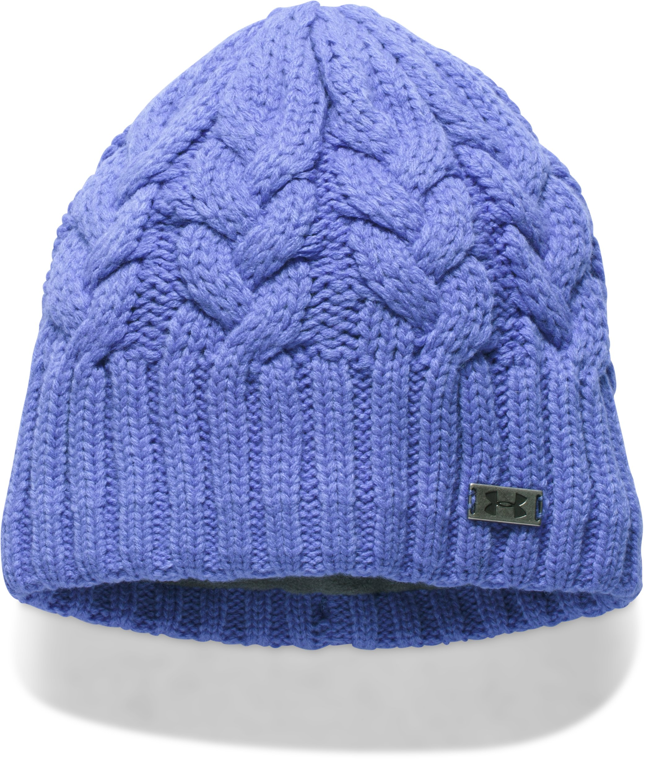 Women's UA Around Town Beanie, VIOLET STORM, zoomed image