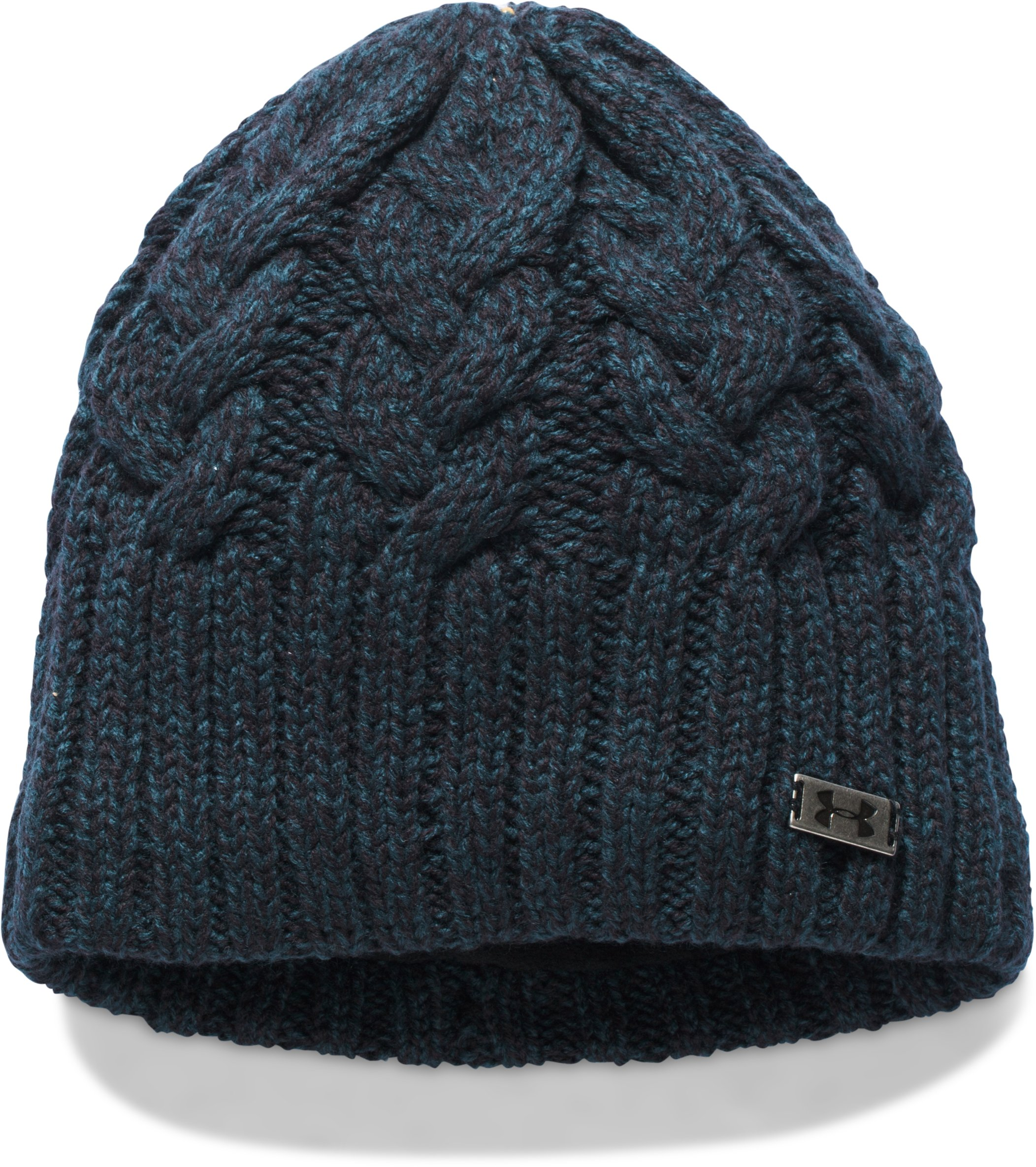 Women's UA Around Town Beanie, NOVA TEAL, undefined