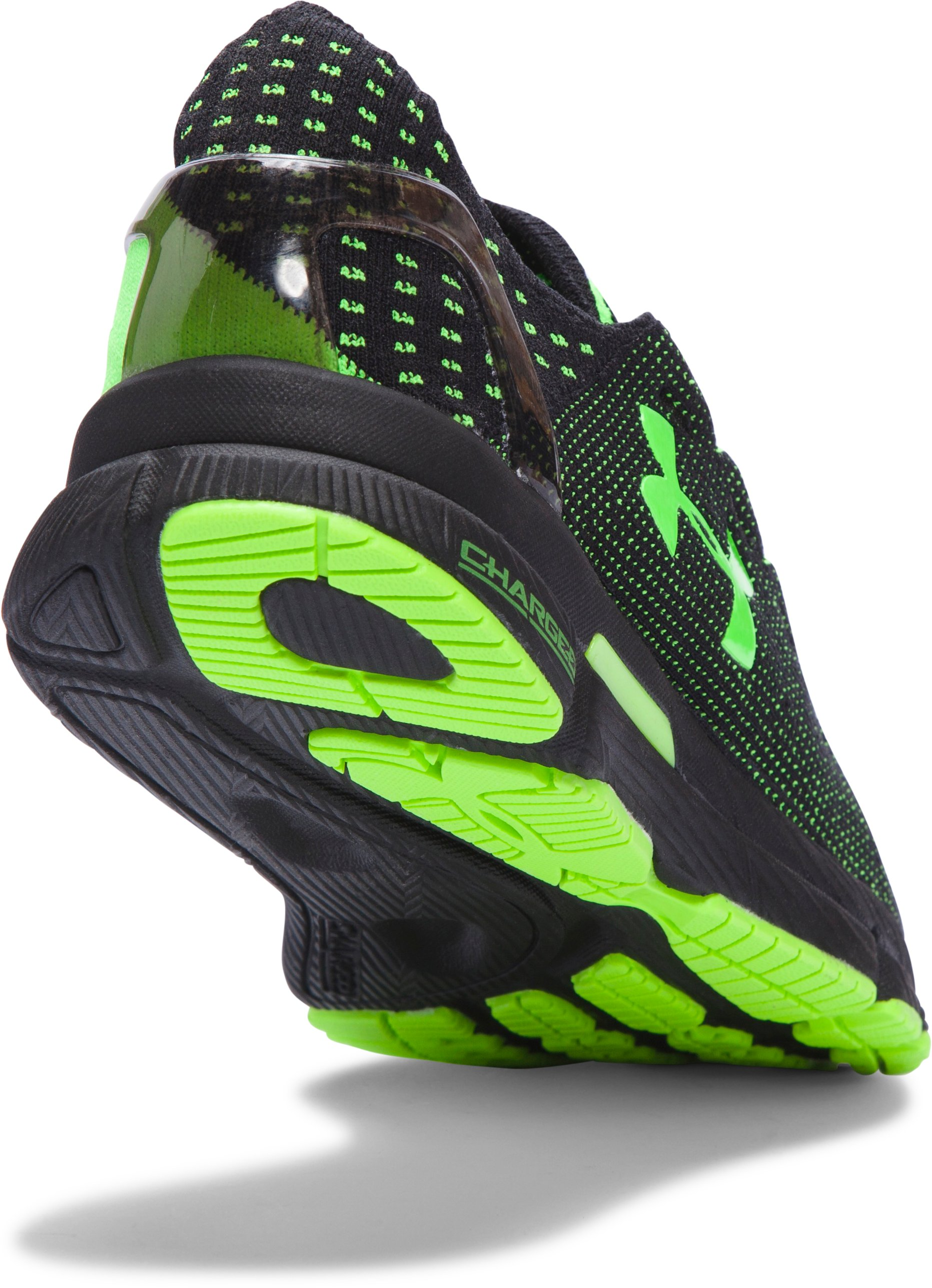 Men's UA SpeedForm® Slingshot Neon Running Shoes, Black