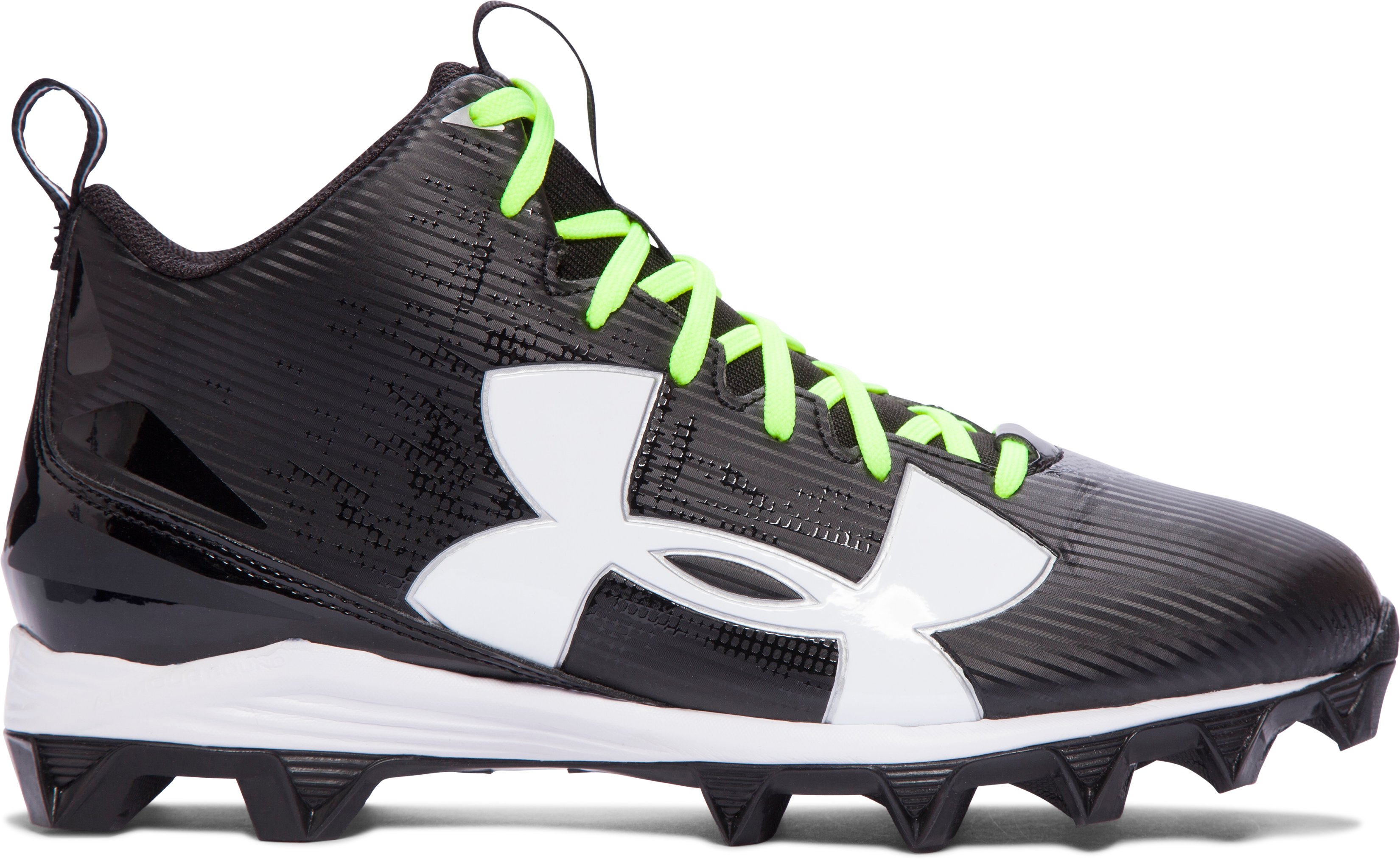Men's UA Crusher RM Football Cleats, Black , zoomed image