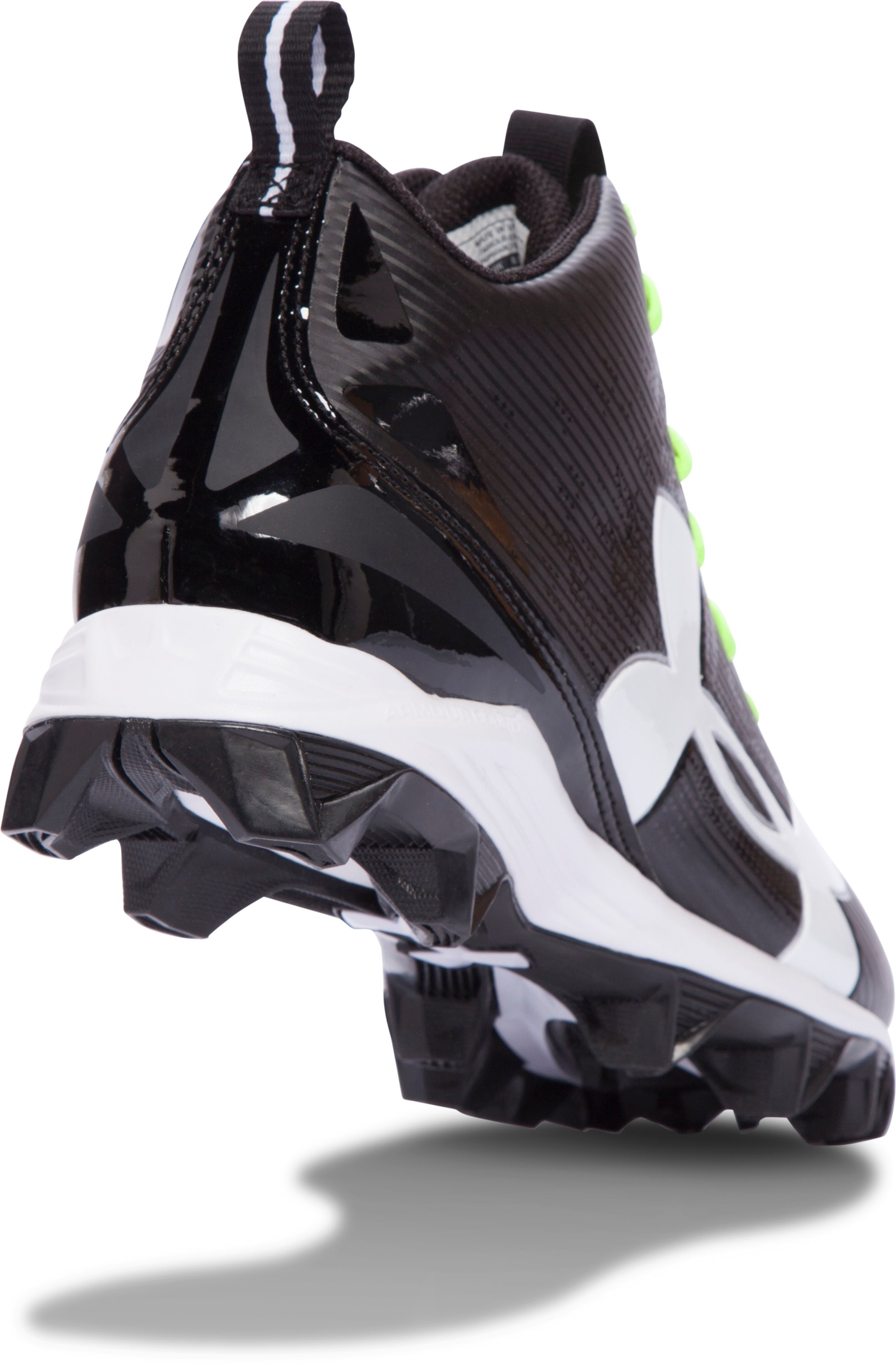 Men's UA Crusher RM Football Cleats, Black