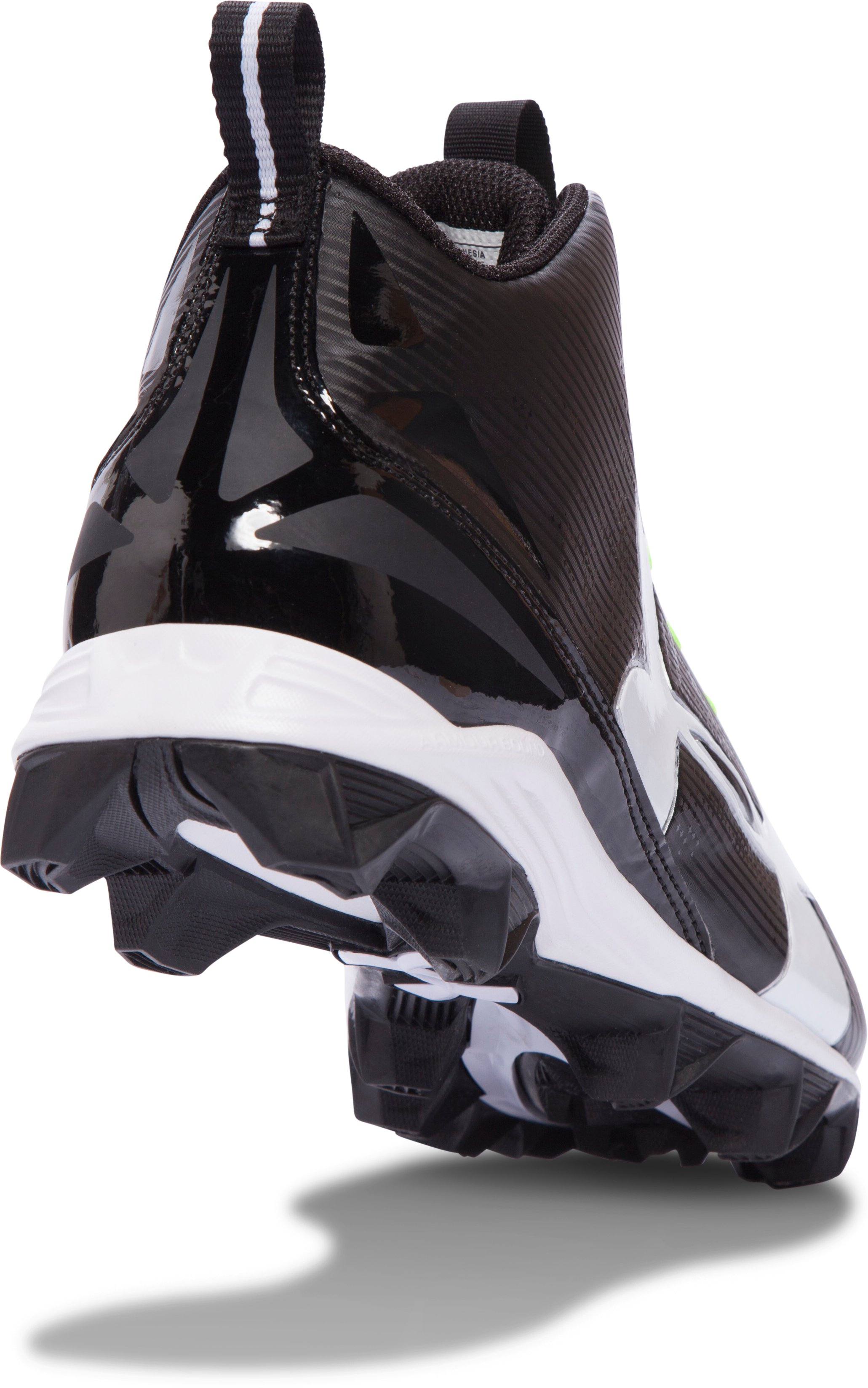 Men's UA Crusher RM Wide Football Cleats, Black , undefined