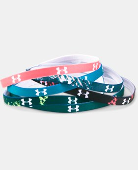 Women's UA Graphic Mini Headbands – 6-Pack   $14.99