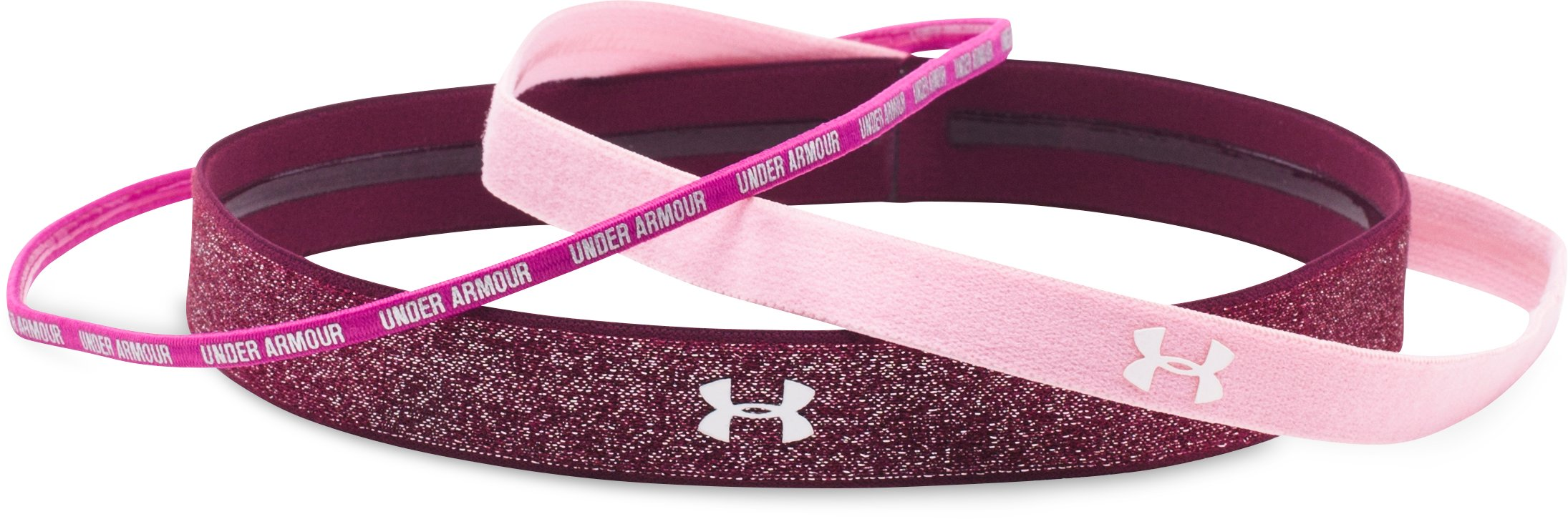 Women's UA Shimmer Headbands - 3 Pack, Pink,