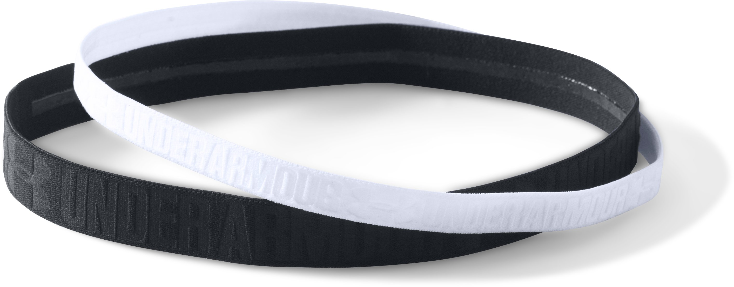 Women's UA Embossed Headbands – 2 Pack, Black