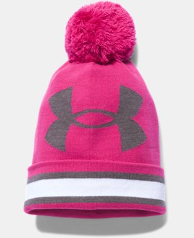 Women's UA Power In Pink® Pom Beanie LIMITED TIME: FREE U.S. SHIPPING  $18.99