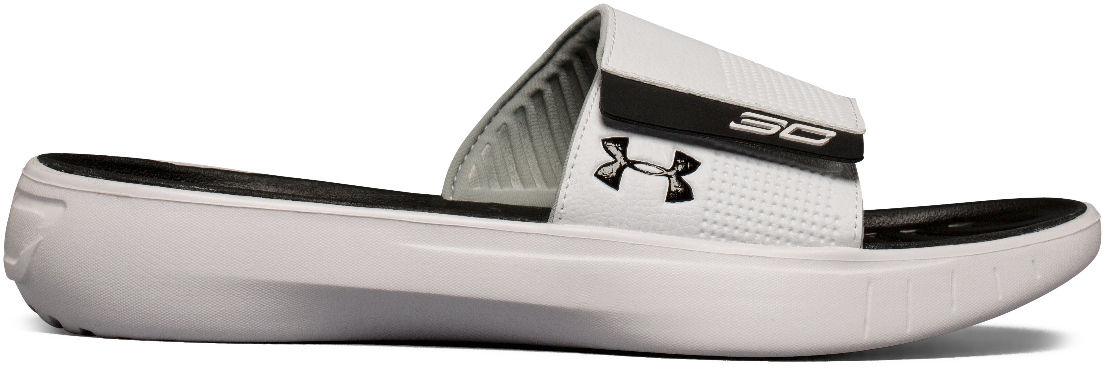 Men's UA Curry 3 Slides, White