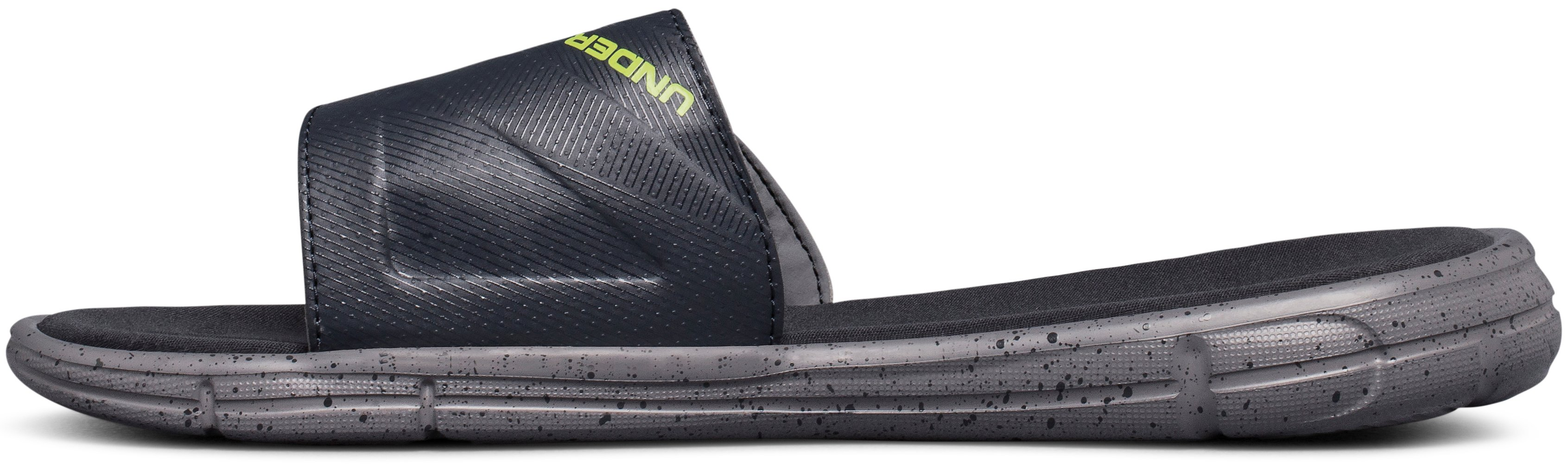 Men's UA Ignite Water Friendly Slides, ZINC GRAY, undefined