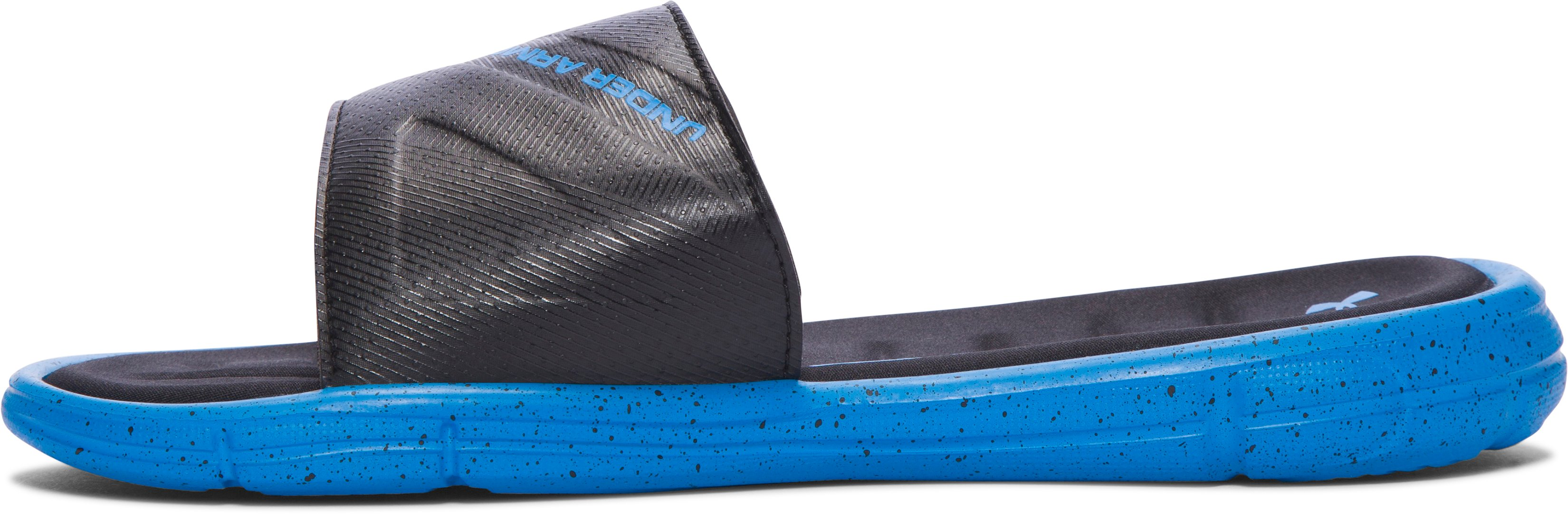 Boys' UA Ignite Water Friendly Slides, Black , undefined