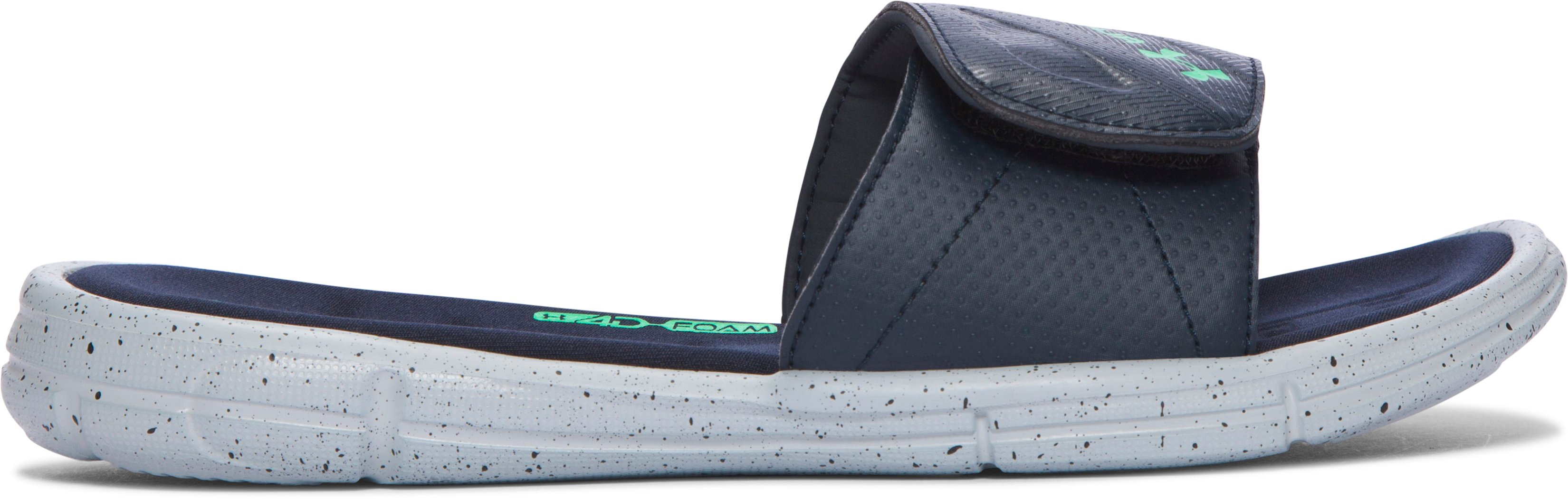 Boys' UA Ignite Water Friendly Slides, BLUE DRIFT