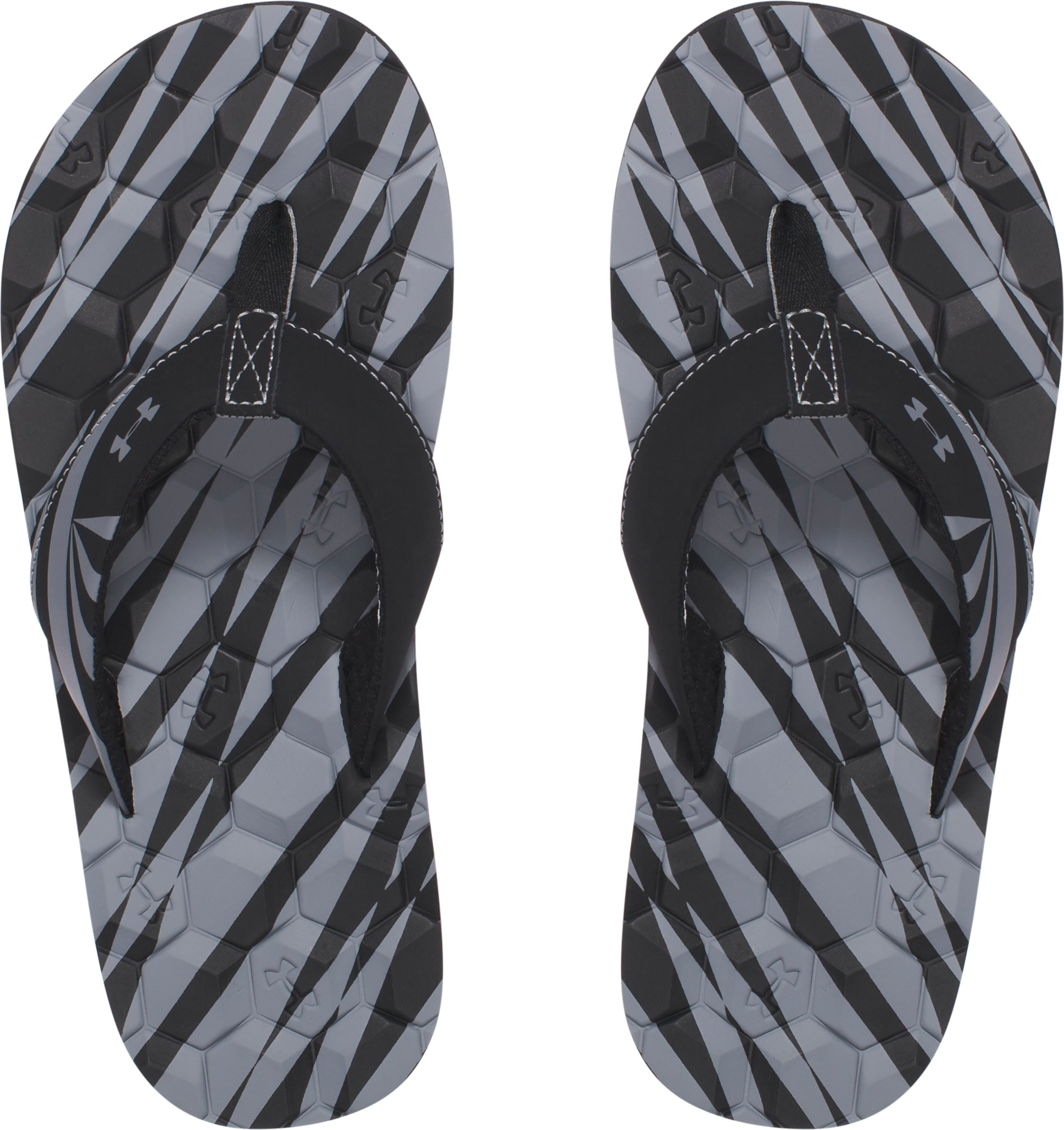 Boys' UA Marathon Key II Sandals, Black , undefined