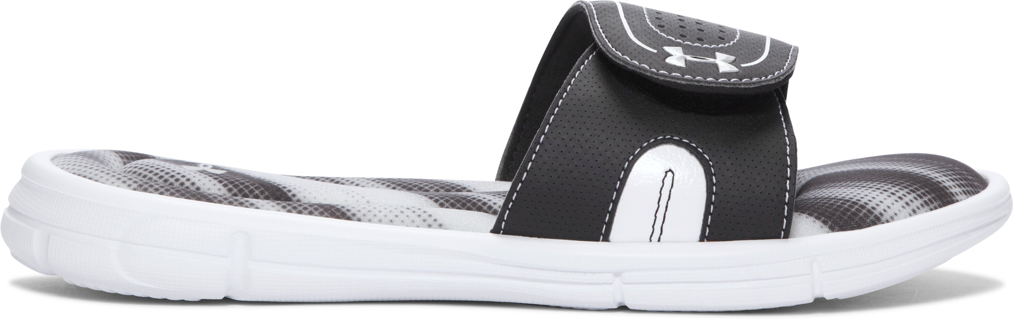 Women's UA Ignite Finisher VIII Slides, GLACIER GRAY,