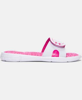 Women's UA Ignite Power In Pink® VIII Slides   $34.99