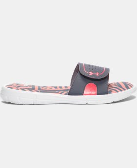 Women's UA Ignite Maze VIII Slides  1 Color $26.99
