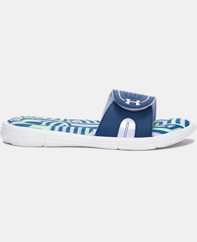 Women's UA Ignite Maze VIII Slides  2 Colors $26.99