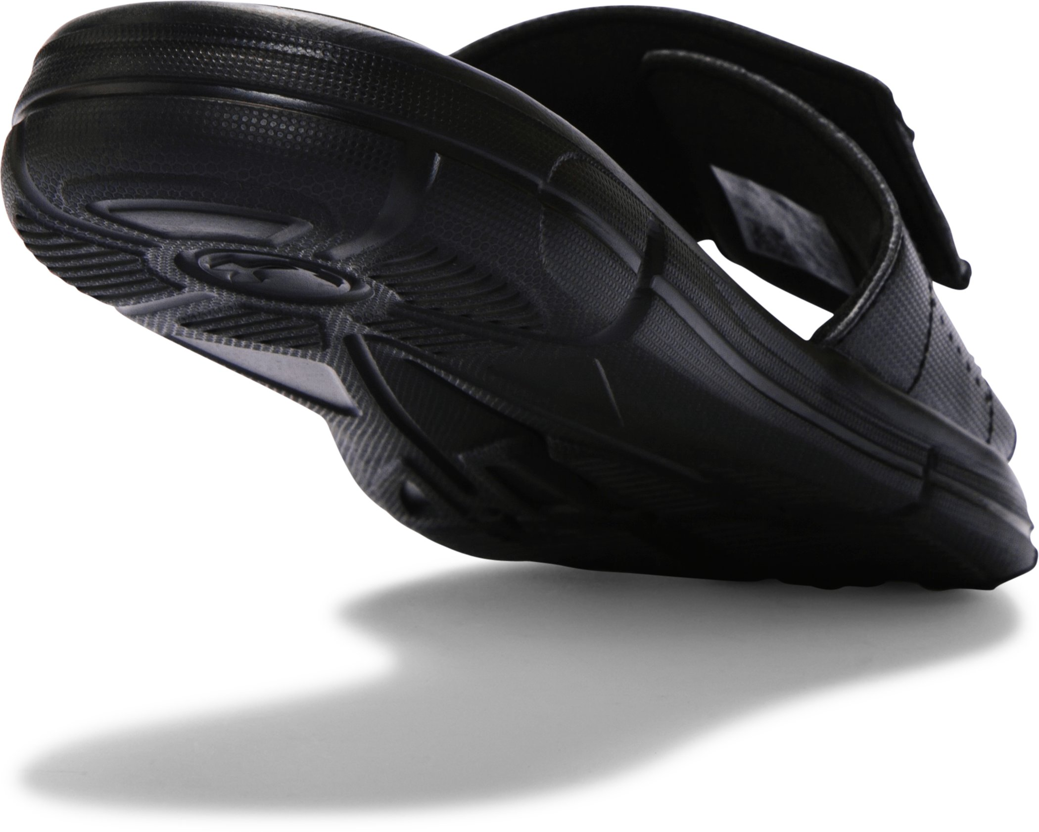 Men's UA Ignite V Slides, Black , undefined