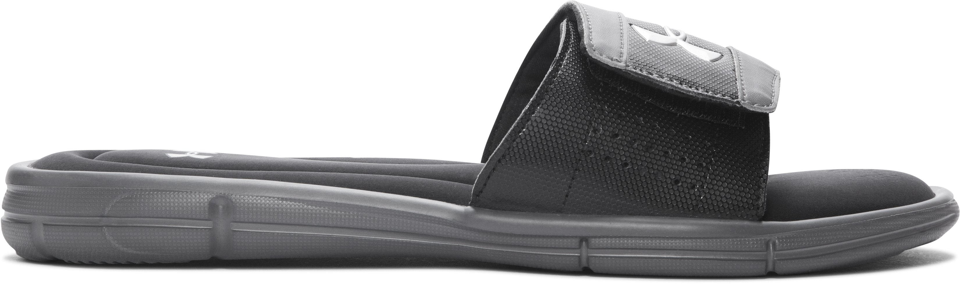 Men's UA Ignite V Slides, Graphite, zoomed image