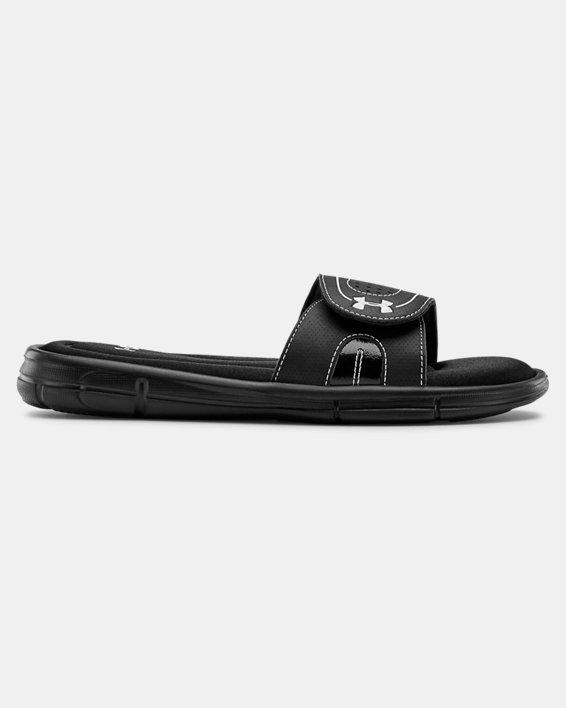 Women's UA Ignite VII Slides, Black, pdpMainDesktop image number 0