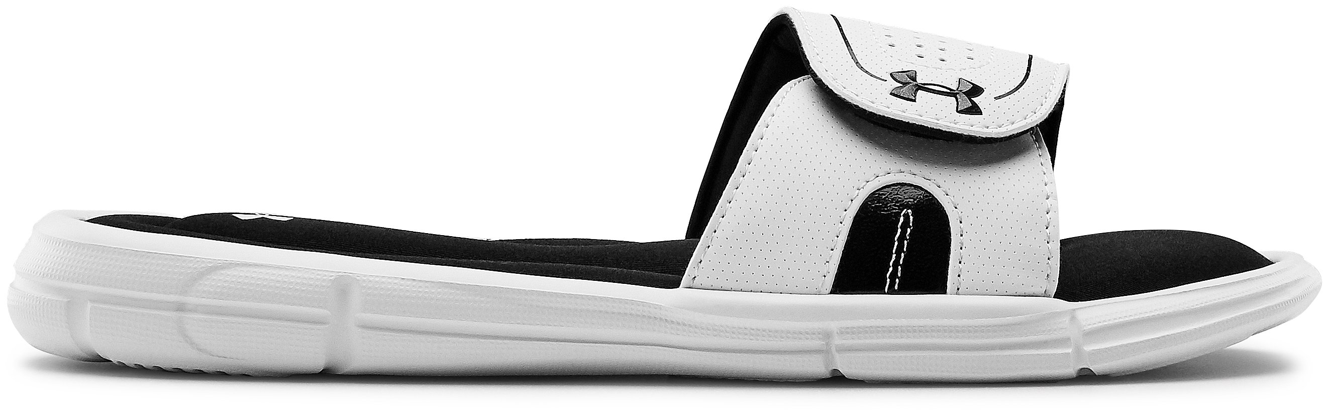 Women's UA Ignite VII Slides, White, undefined