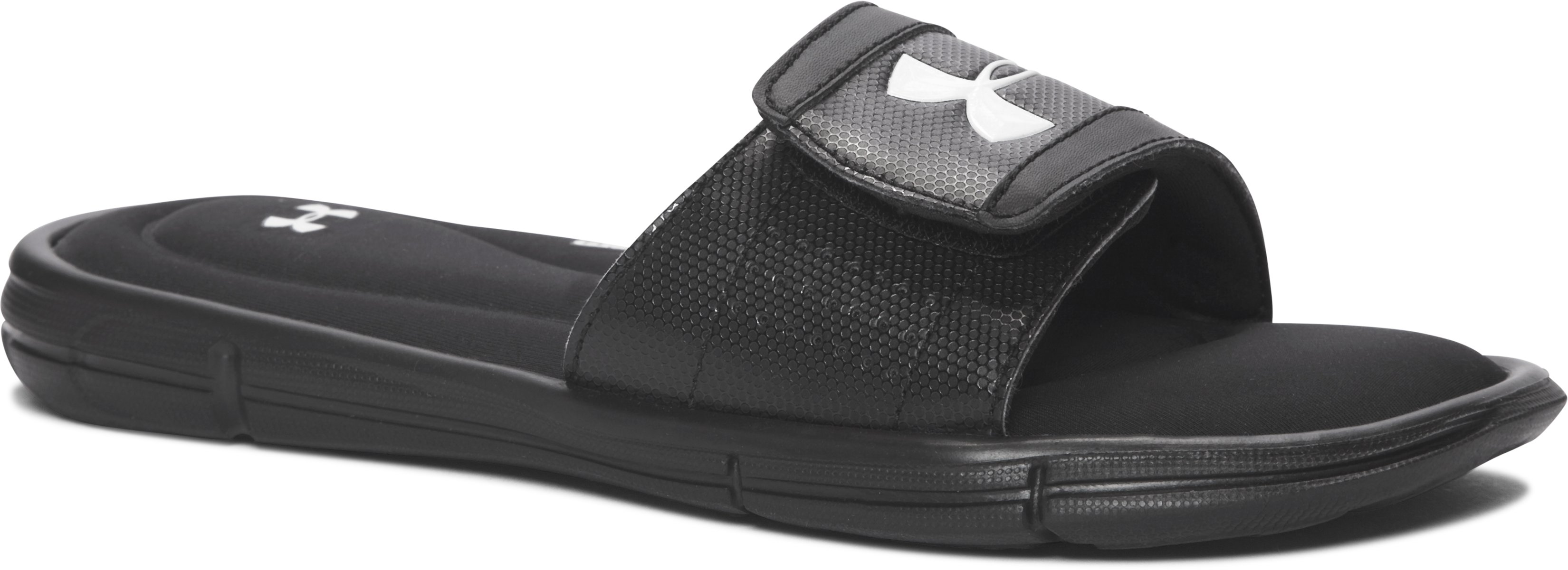 Boys' UA Ignite V Slides, Black ,