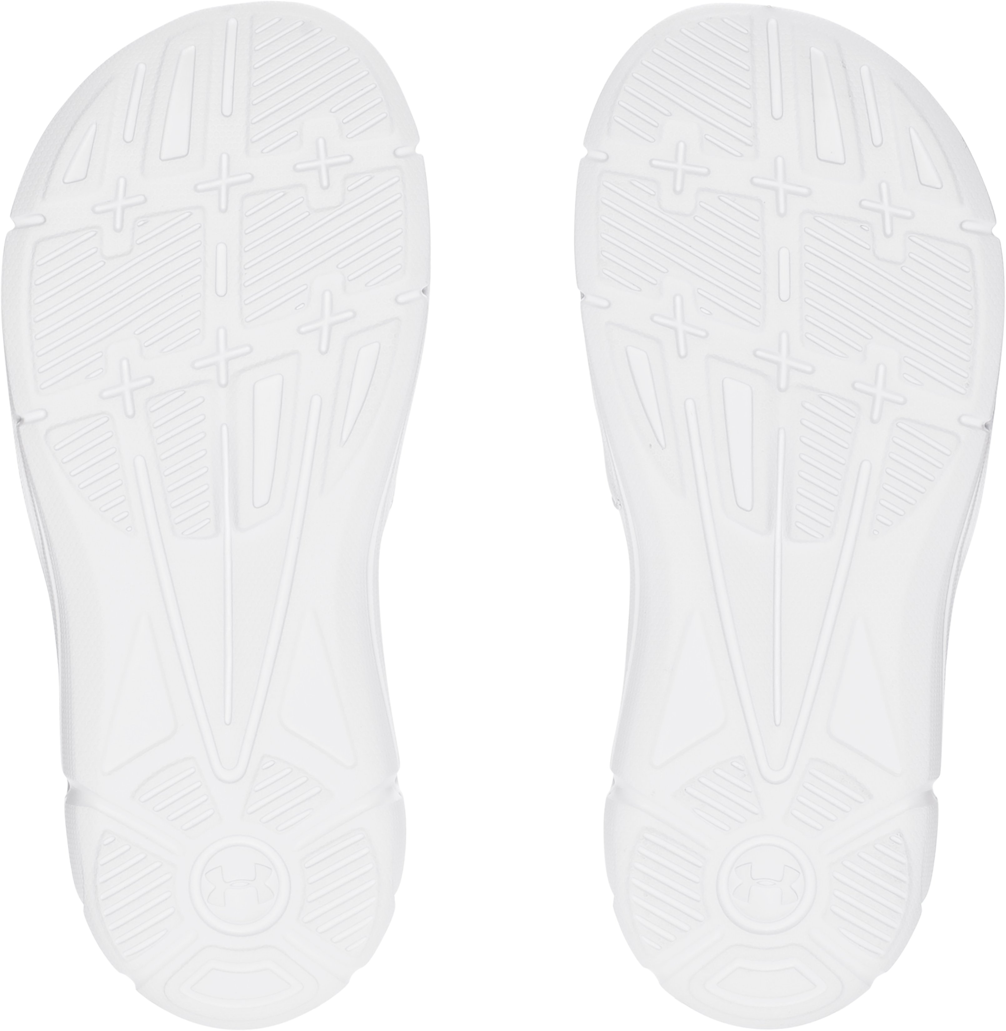 Boys' UA Ignite V Slides, White,