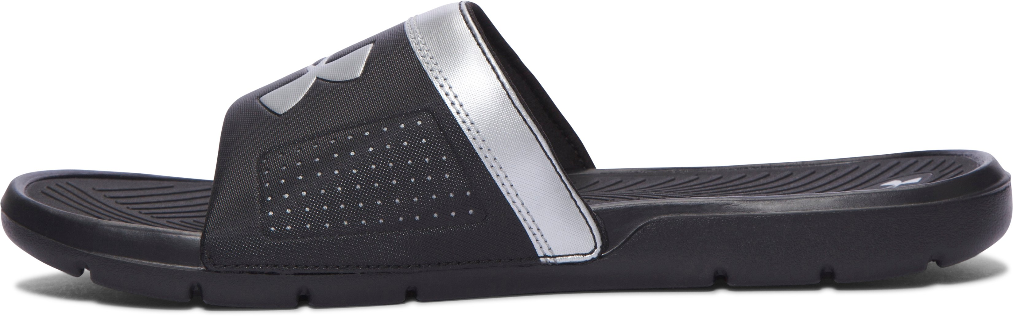 Men's UA Playmaker VI Slides, Black , undefined