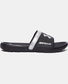 New Arrival  Boys' UA Playmaker VI Slides  1 Color $27.99