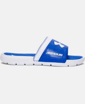 New Arrival Boys' UA Playmaker VI Slides   $24.99