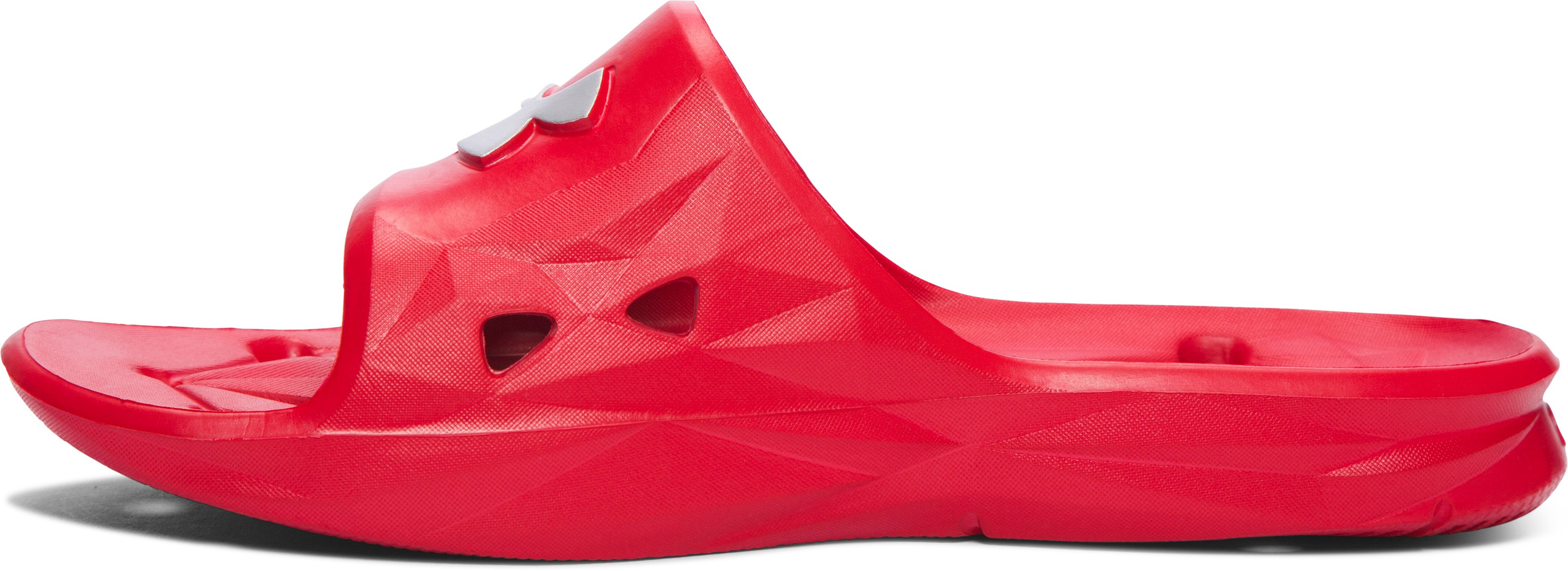 Men's UA Locker III Slides, Red, undefined