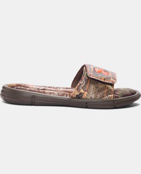 New Arrival Boys' UA Ignite Camo V Slides   $34.99