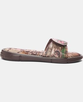 New Arrival Girls' UA Ignite Camo VII Slides  1 Color $31.99