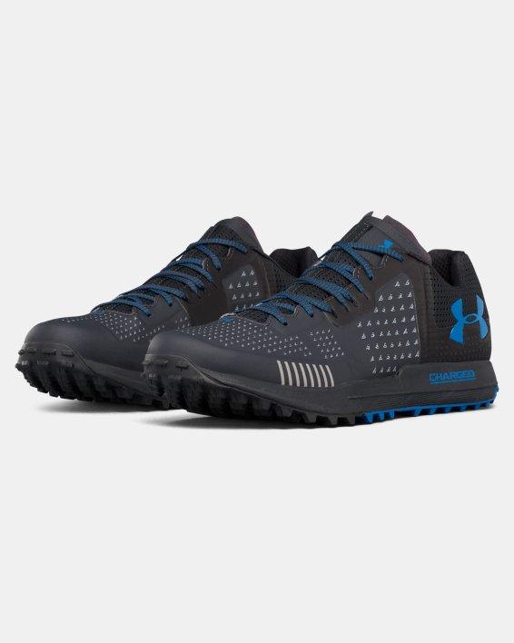Men's UA Horizon RTT Trail Running Shoes, Gray, pdpMainDesktop image number 4