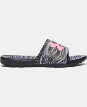 New Arrival Women's UA Strike Swirl Slides  3 Colors $21.99