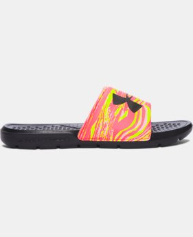 New Arrival Women's UA Strike Swirl Slides  2 Colors $24.99