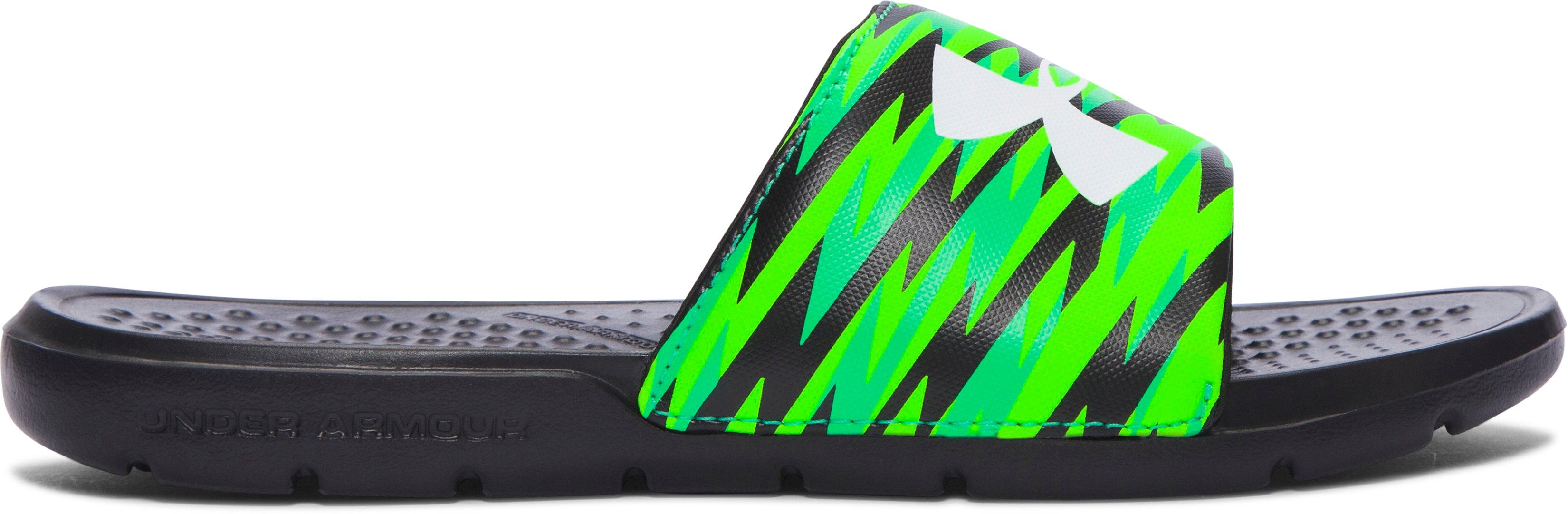Boys' UA Strike Flash Slides, Black