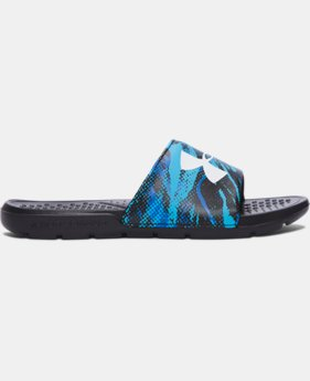 New Arrival Boys' UA Strike Blend Slides   $24.99