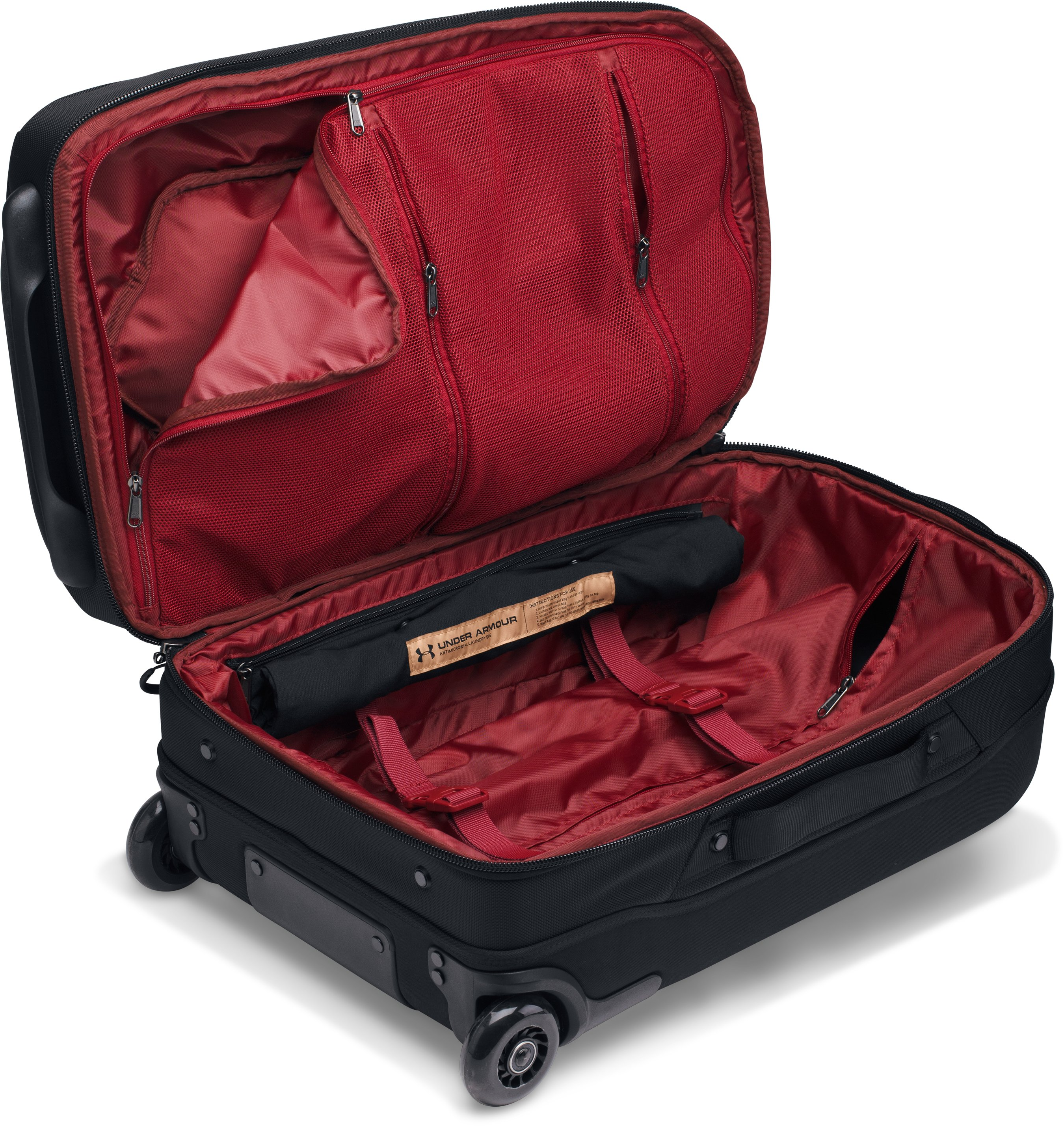 UA Carry-On Rolling Suitcase, Black , undefined