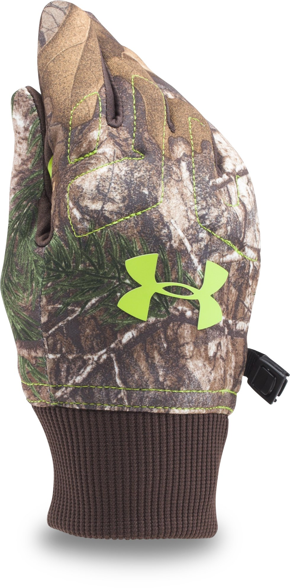 Boys' UA Armour® Fleece Gloves, REALTREE AP-XTRA, zoomed image