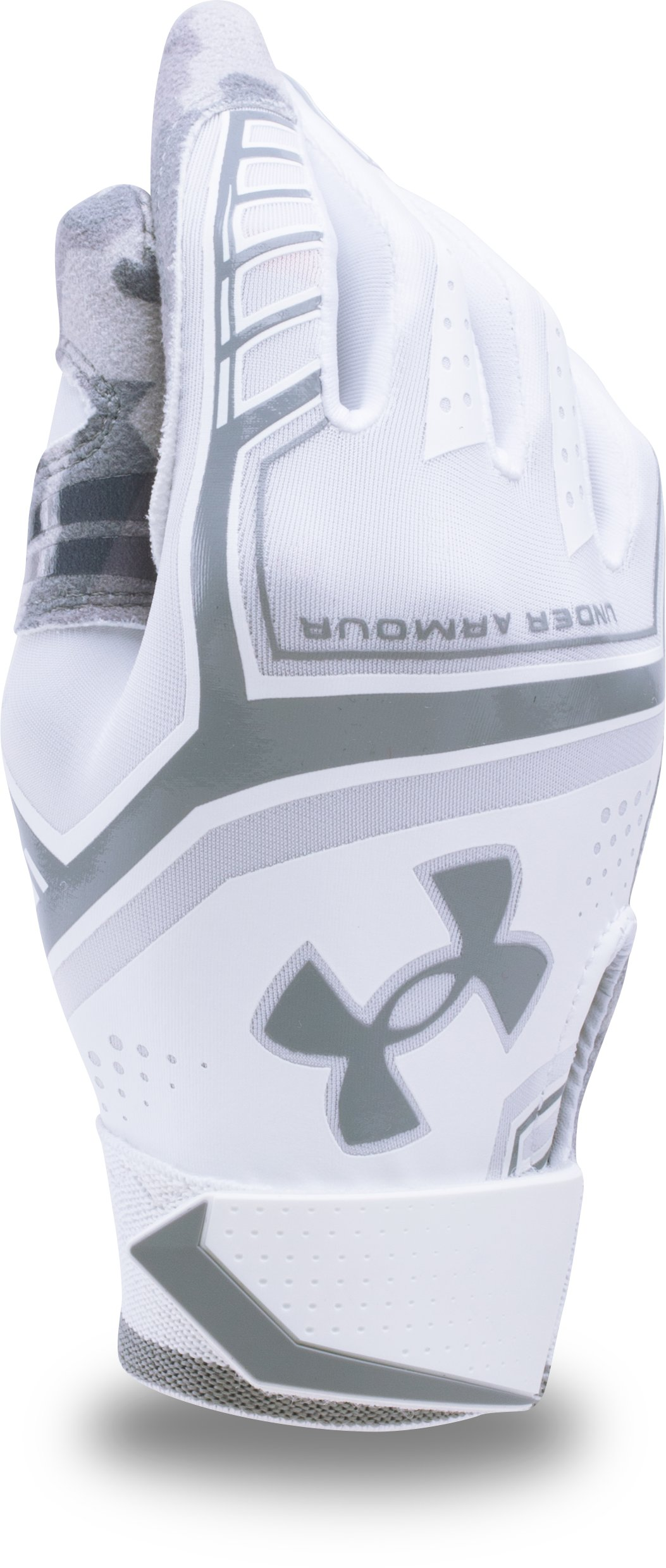 Boys' UA Heater Batting Gloves, White
