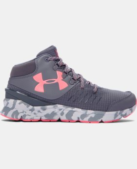 Girls' Grade School UA Overdrive Mid Marble Running Shoes