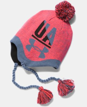 Girls' UA Tassel Beanie  1 Color $24.99