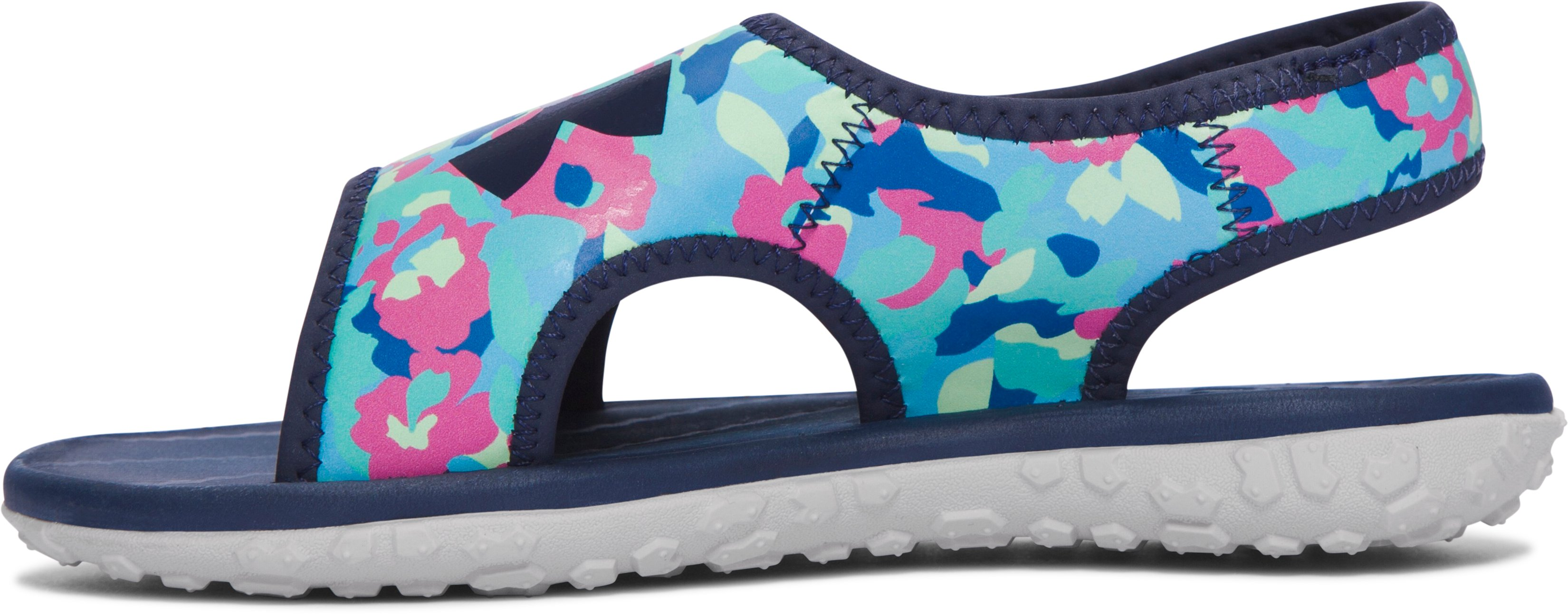 Girls' Pre-School UA Fat Tire Sandals, Midnight Navy, undefined