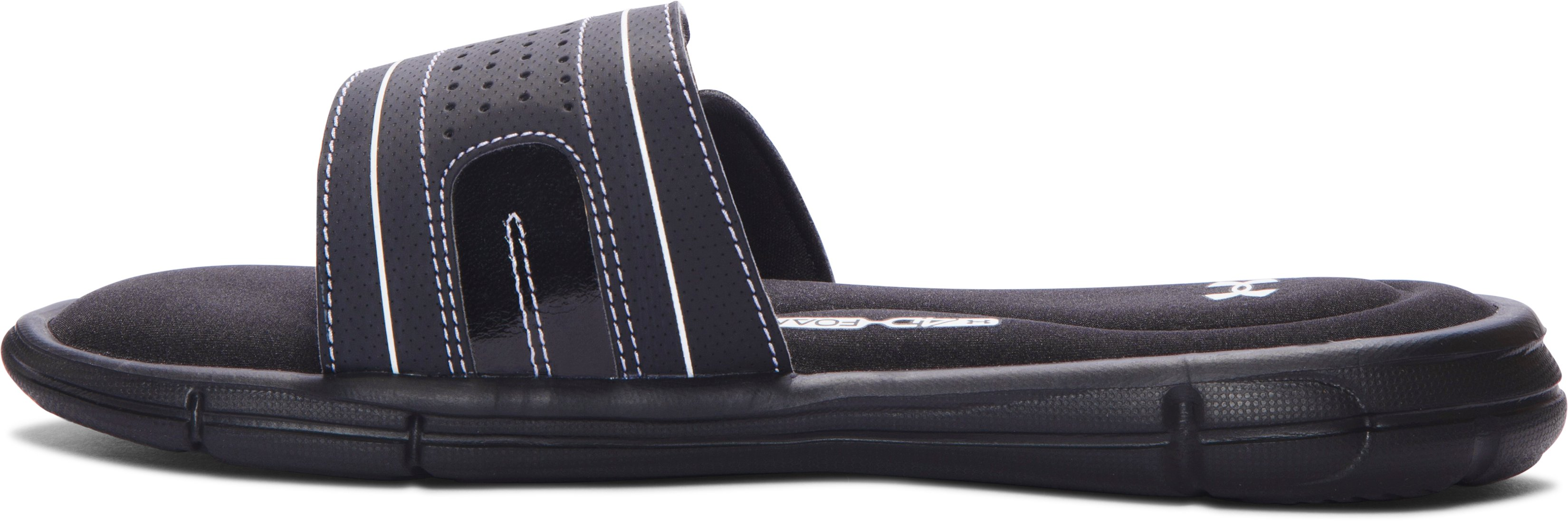 Girls' UA Ignite VIII Slides, Black ,