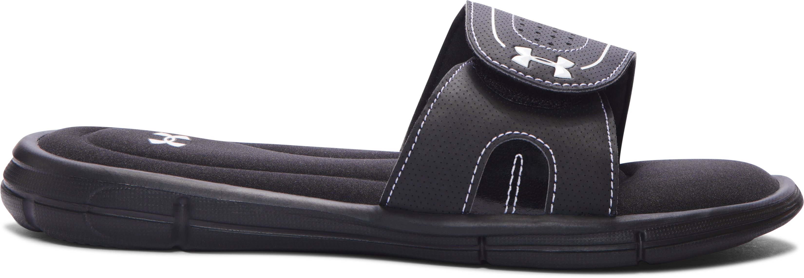 Girls' UA Ignite VII Slides, Black