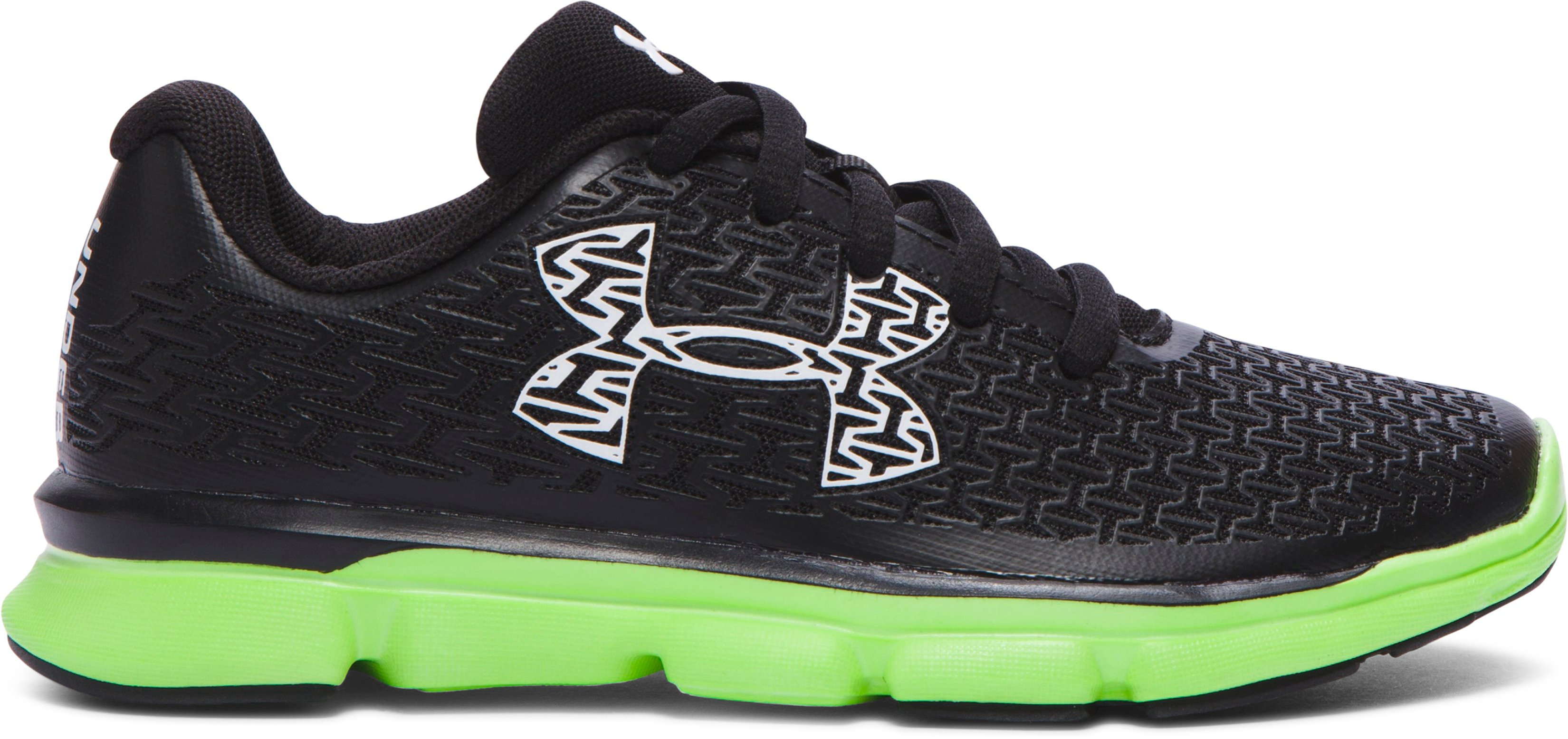 Boys' Pre-School UA ClutchFit® RebelSpeed Running Shoes, Black , zoomed image